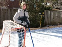 Alex as goalie