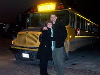 Transport for the night was a Magic School Bus