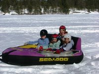 The SeaDoo, ready to go behind the SkiDoo