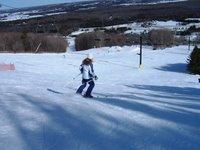 Kim on the slopes