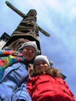 Kate, Laura and the Totem Pole