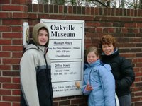 Outside the Oakville Museum