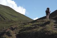 TMB -Arrivée au Grand Col Ferret