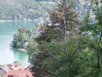 vue sur le Lac d'Annecy depuis l'arête du Taillefer