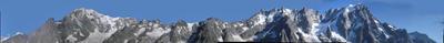 Panorama versant Sud du Mt Blanc