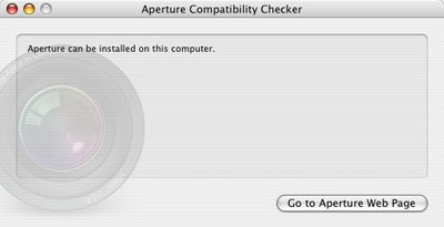 Aperture supports the iBook.