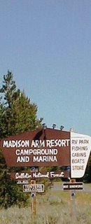 Madison Arm Resort Sign