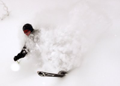 powder skiing Andrew Batson