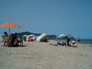 Stranden bortom Corniche, Martil i juli -06
