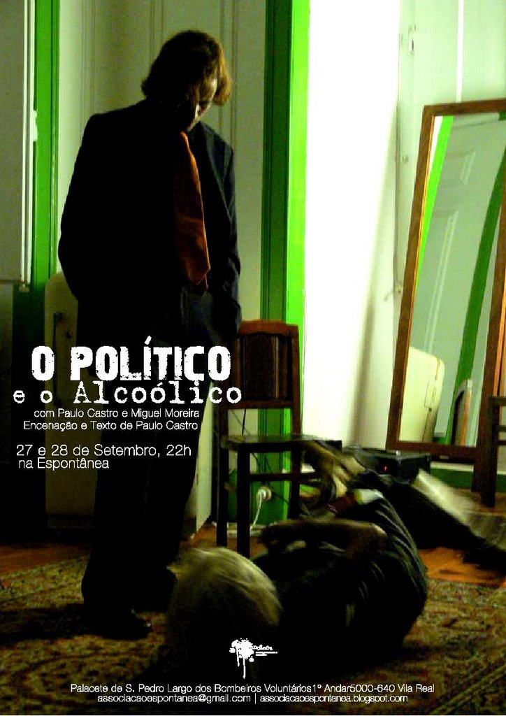 Cartaz de 'O Político e o Alcoólico'