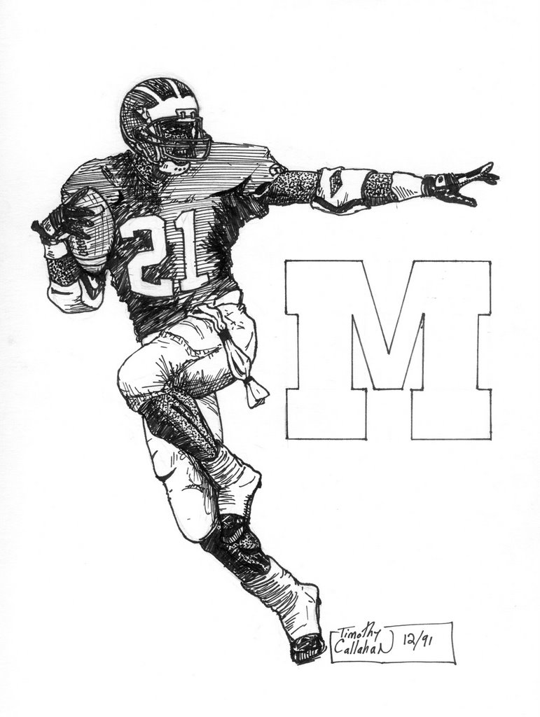Michigan Football Coloring Pages Free Coloring Pages