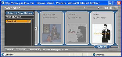 Player do Pandora.com