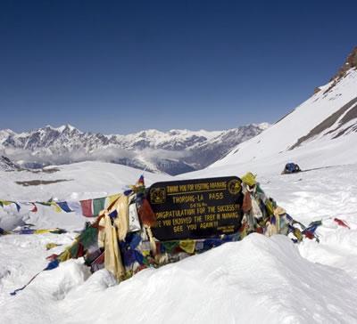 Photo: Thorung La covered in snow - November 2005