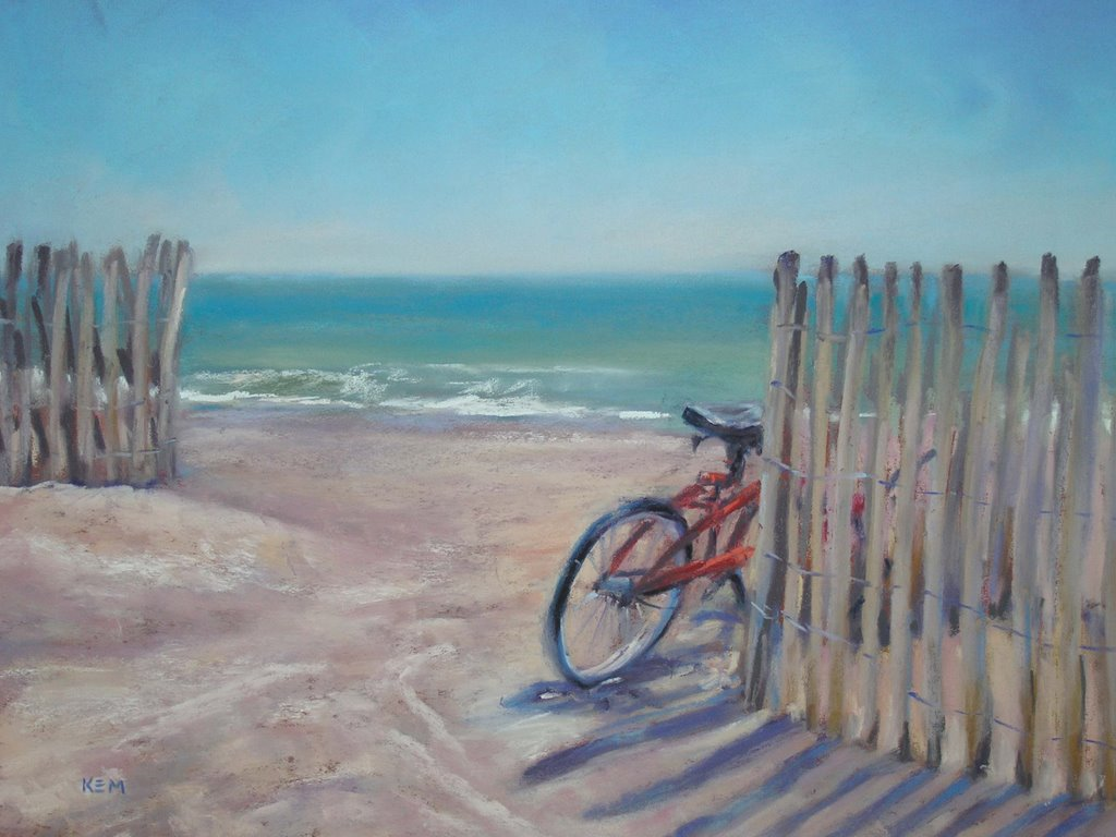 Painting My World Daily Pastel Painting Cape May Beach