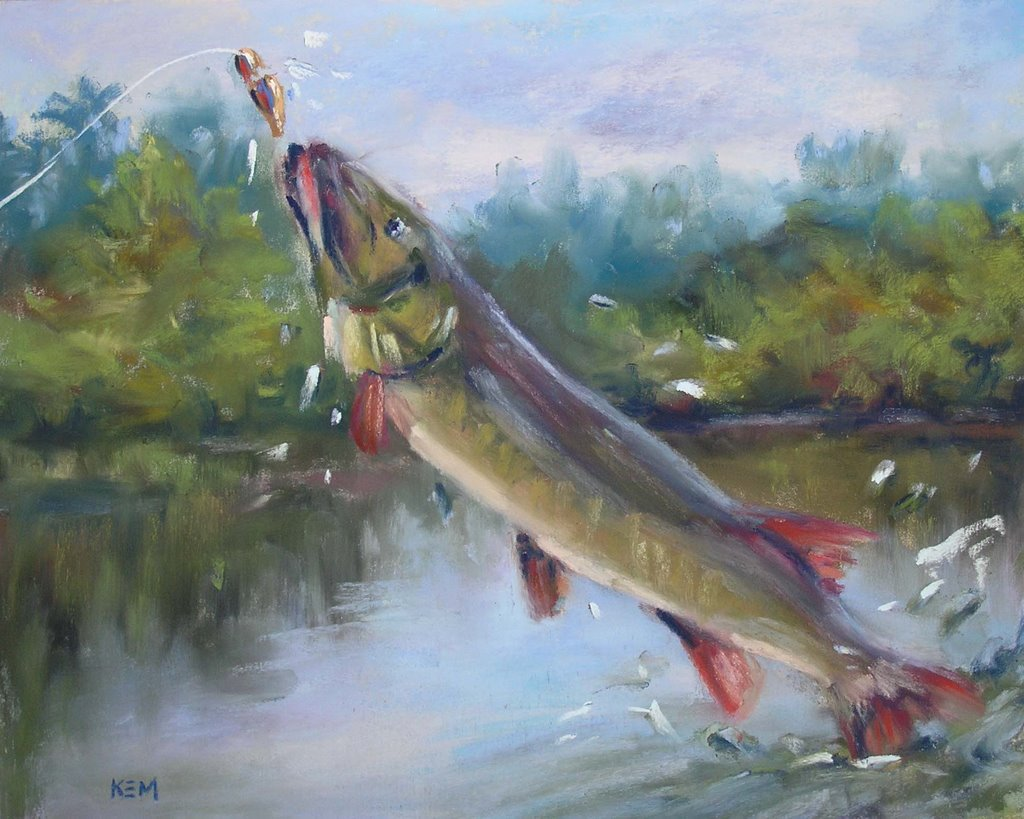 Fish jumping out of water painting for How to paint a fish