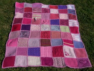 Blanket Stitch Knitted Squares Together : Please keep sending the squares and the positive vibes; this is truly a speci...