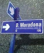 Calle Diego Maradona en Santa Rosa (La Pampa)