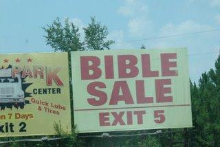 Bible Sale?