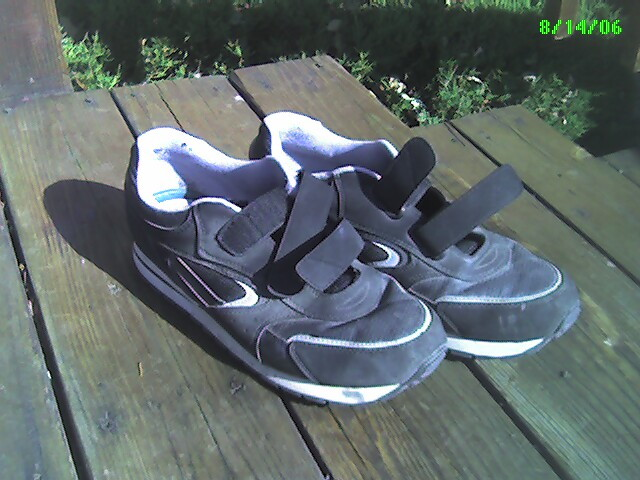 Blue High Top Velcro Shoes Adult