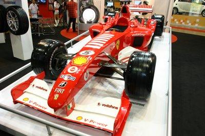Formula 1 racing cars @ Singapore Motorshow 2006