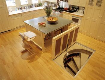 The truancy report everyone needs a spiral cellar - Wine cellar trap door ...