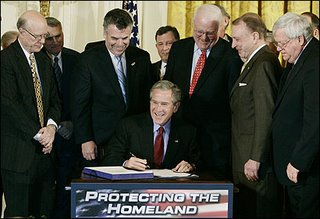 Bush's contention that he can ignore provisions of the Patriot Act, whose renewal he ushered last month, has drawn scrutiny. (Jim Young/ Reuters)