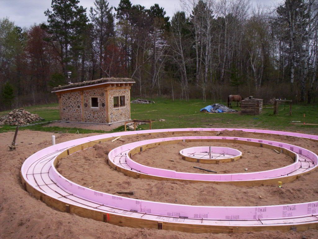 Surviving within civilization the process of building our - How to build a cordwood house ...