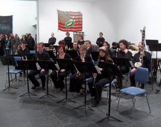 uno de los grupos de clarinete. Ahi me ven con el clarinete contrabajo!