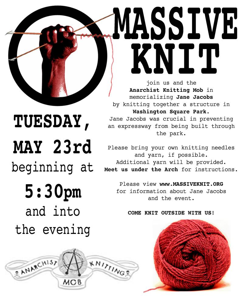 Revolutionary Knitting Circle : Massive knit nyc