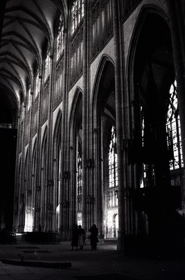 The Last Gothic Church I Visited Was Abbey Of Saint Ouen This My Favorite Interior Seen In Above Photo Is Very Tall And Piers