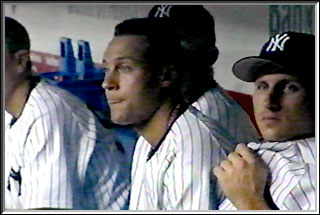 Derek Jeter and Bubba Crosby in the dugout