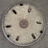 Manhole cover, Minato ward, Tokyo.