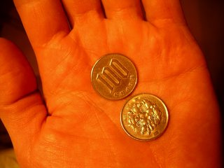 100 yen coin.