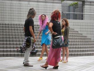 Street dancers, Shibuya, Tokyo.