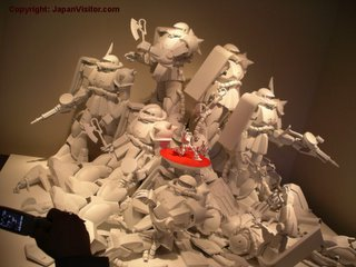 Gundam sculpture.