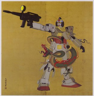 Gundam postcard by Tenmyouya Hisashi, on sale at exhibition.