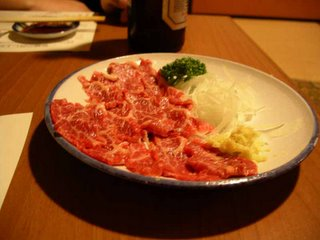 Horsemeat sashimi.