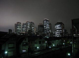 View of West Shinjuku from the Kanda River.