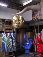 Taro Okamoto's studio