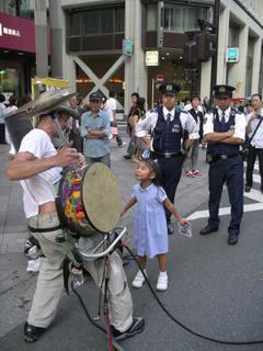 One man band and the Japanese police