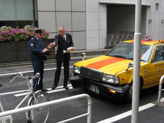 Traffic accident in Kojimachi, Tokyo.