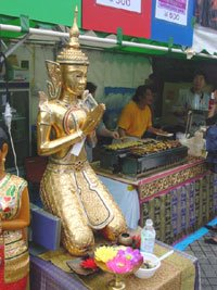 Thai Festival in Nagoya 2006 - praying it will be on next year
