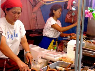 Thai Festival in Nagoya - stall serving authentic Thai food
