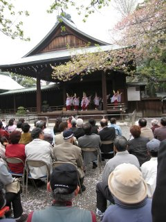 Spring performance at Yasukuni Shrine