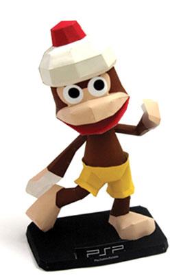 mono ape, mono, papercraft, videojuego