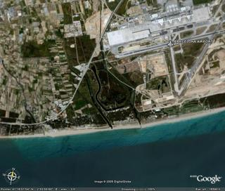 google earth: delta del llobregat