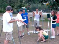 Constructing soccer goals in the park