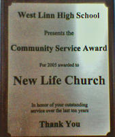 West Linn High School Community Service Award to Coffee Cart