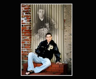 Plano East baseball player senior portrait pose featuring his letter jacket