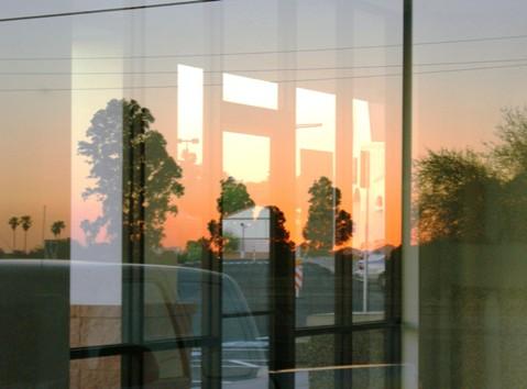 autocorrected glass sunset